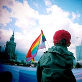Fototapety Gay pride child rainbow flag
