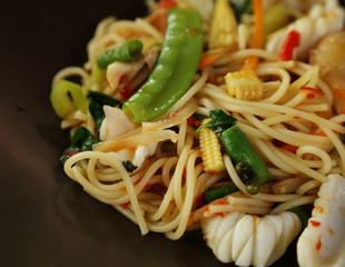 Italian pasta - spaghetti bolognese in plate
