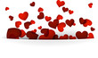 Valentine's background with red hearts.