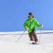 Skifahren im eleganten Telemark-Stil