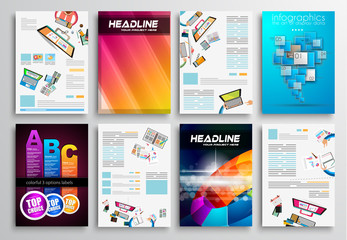 Set of Flyer Design, Infographic Templates. Brochure Designs