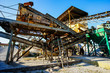 canvas print picture - Industrial Gravel Quarry