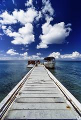 CUBA, Maria La Gorda, diving boats - FILM SCAN