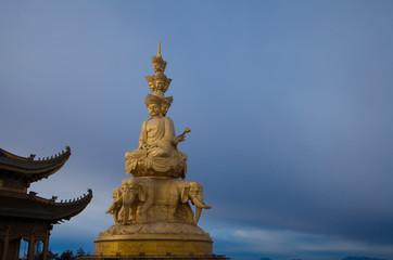 Mount emei samantabhadra bodhisattva statue .