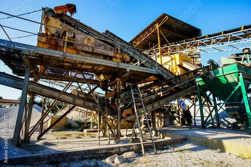 canvas print picture Industrial Gravel Quarry