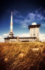 Funk- und Sendemasten auf dem Brocken im Harz