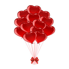 Red Valentines balloons