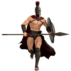 spartan running frontal
