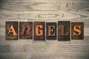 Angels Concept Wooden Letterpress Type
