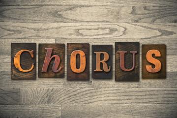 Chorus Concept Wooden Letterpress Type