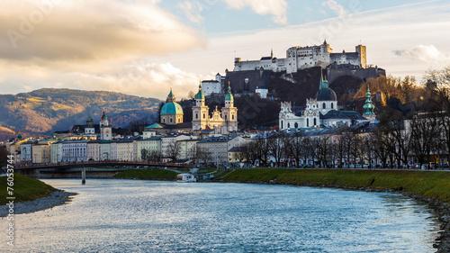canvas print picture Salzburg im Winter