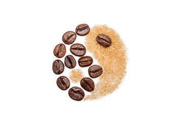 Yin and Yang, coffee and sugar