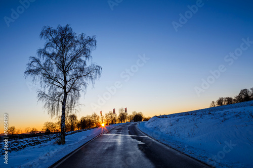 canvas print picture Winterabend