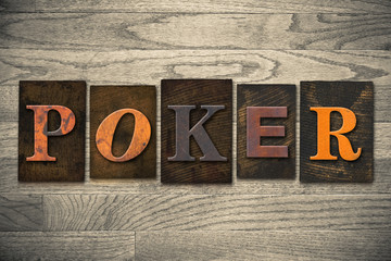 Poker Concept Wooden Letterpress Type