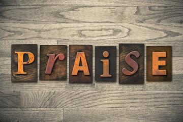 Praise Concept Wooden Letterpress Type