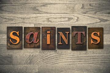 Saints Concept Wooden Letterpress Type