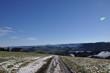 canvas print picture - Weg im winterlichen Alpenvorland