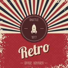 retro space rocket template theme