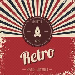 retro space rocket template theme
