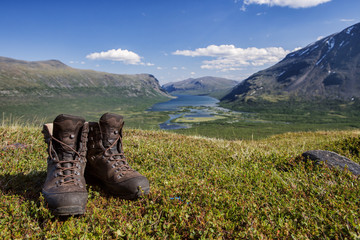 Hiking Boots in the summertime in sweden