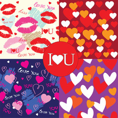 Valentines Day Background pattern collection