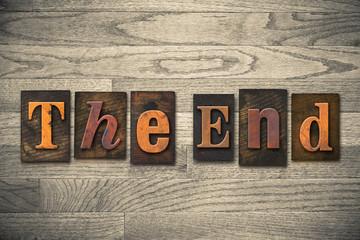 The End Wooden Letterpress Concept