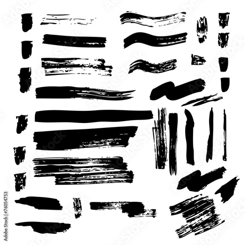 Aluminium Vormen footprints ink brushes