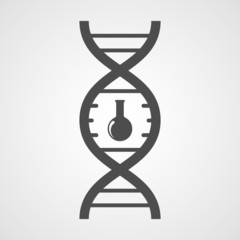 Vector DNA icon.