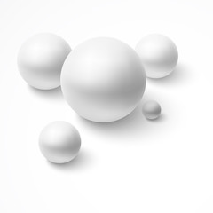 Abstract background with realistic spheres.