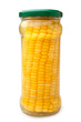Preserved corn ear in glass jar