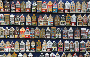 Holland Souvenirs, a bunch of colored Dutch houses