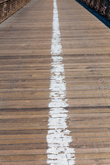 Brooklyn bridge wooden soil pavement detail NY