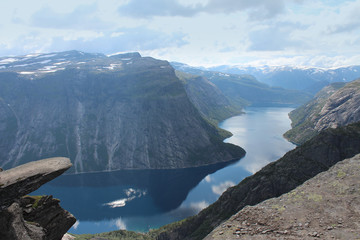 Troll's tongue is one of the popular sight places in Norway.