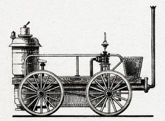 "Locomotive ""Novelty"" (J. Ericsson, J. Braithwaite, 1829)"