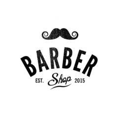 Barber shop. Vintage logo