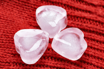 Ice cubes, heart