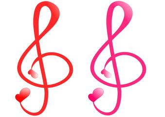 Treble clef love