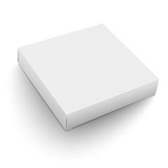 White square box template.