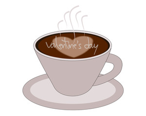 Valentine's coffee vector