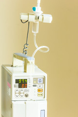 infusion pump, saline solution equipment
