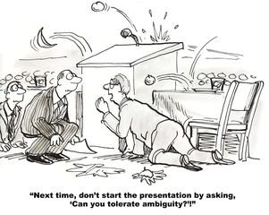 Bad Start for Presentation and Speaker