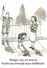Parents Hustle Son Through Childhood