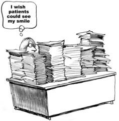 Paperwork, see my smile