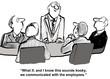 Leinwanddruck Bild - Communicate with Employees