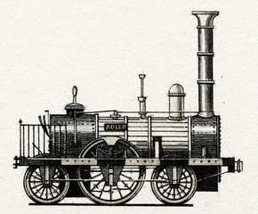 "Locomotive ""Adler"" (Germany, 1835)"