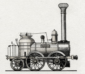 "Locomotive ""Saxonia"" (Germany, 1838)"