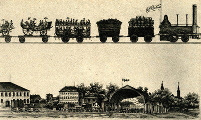 Opening of Dresden´s first station (Leipziger Bahnhof) 1837