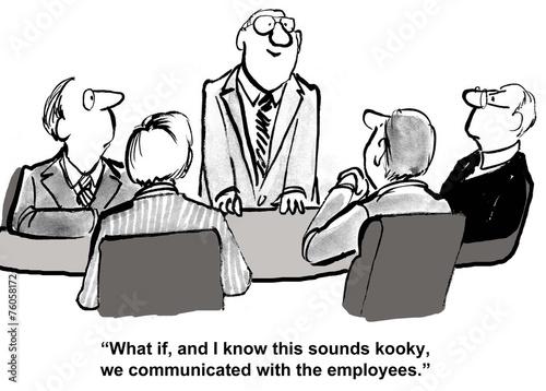 Leinwanddruck Bild Communicate with Employees