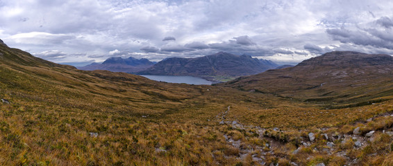 Beautiful Wester Ross mountains and Loch Torridon, Scotland, UK