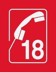18 - Numéro d'appel d'urgence des Pompiers
